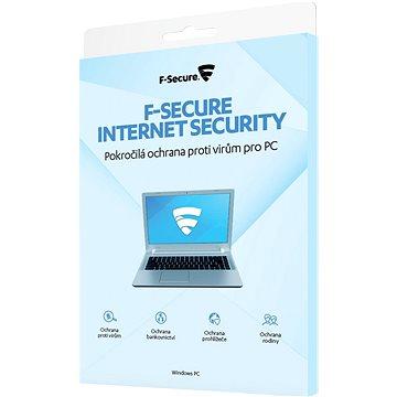 F-Secure INTERNET SECURITY pro 3 zařízení na 1 rok (elektronická licence) (FCIPOB1N003G1)