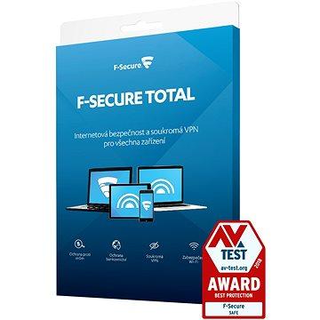 F-Secure TOTAL pro 3 zařízení na 1 rok (elektronická licence) (FCFTBR1N003E2)