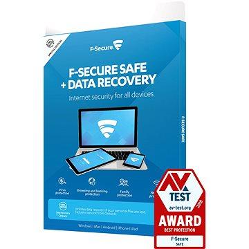 F-Secure SAFE DR pro 3 zařízení na 1 rok + Data Recovery pro 1 zařízení na 1 rok (elektronická licen (FCFXBR1N003XY)