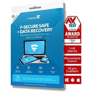 F-Secure SAFE DR (Rodina) pro 5 zařízení na 24 měsíců + pojistka na službu obnovení dat (FCFXBR2N005X1)