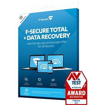 F-Secure TOTAL DR pro 3 zařízení na 1 rok + Data Recovery pro 1 zařízení na 1 rok (elektronická lice (FCFTBR1N003X2)