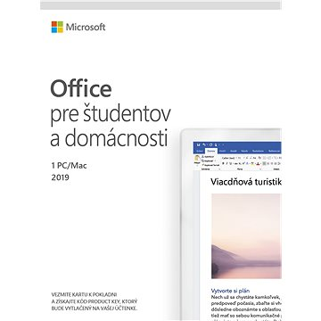 Microsoft Office 2019 Home and Student SK (elektronická licence) (79G-05018)
