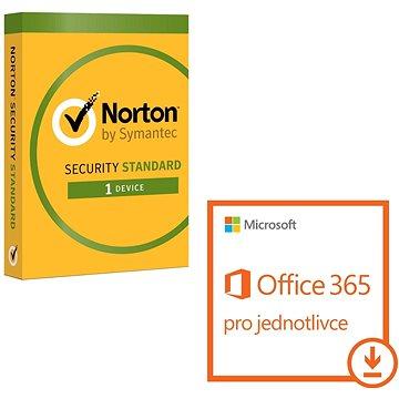 Microsoft Office 365 pro jednotlivce + Norton Int. Security pro 1 zařízení (elektronická licence) (QQ2-00012 bundle)