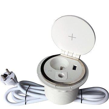 IN Zapuštěná lišta,zásuvka, Qi nabíjení,USB (553009)
