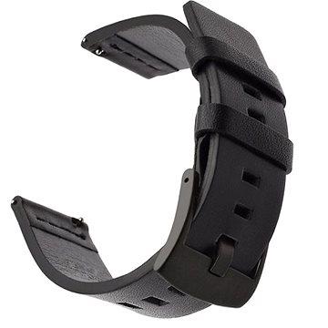 Tactical Kožený řemínek pro Garmin Vivoactive 3 Black (8596311085086)