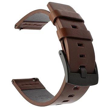 Tactical Kožený řemínek pro Huawei Watch GT / GT2 46mm / Honor Watch Magic 2 Brown (8596311084812)