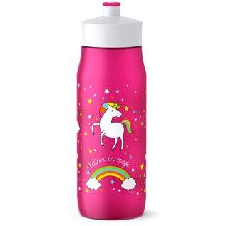 Tefal SQUEEZE měkká láhev 0.6 l růžová-jednorožec (K3201212)