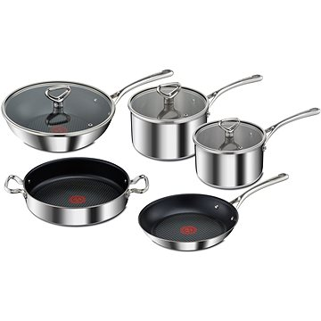 Tefal Sada nádobí 8ks RESERVE Collection Triply E475S544 (E475S544)