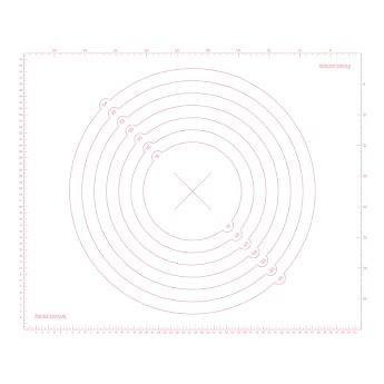 Tescoma Vál silikonový DELÍCIA DECO 55x45cm, bílý (632880.11)