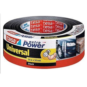 tesa Extra Power Universal, textilní, černá, 50m:50mm (56389-00001-05)