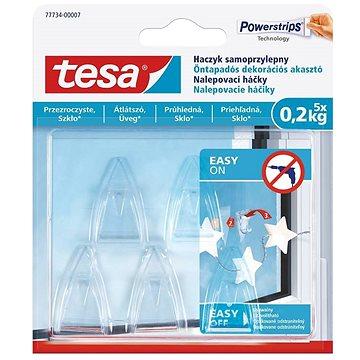 Tesa Samolepicí průhledný dekorační háček na sklo 0.2kg (77734-00007-00)