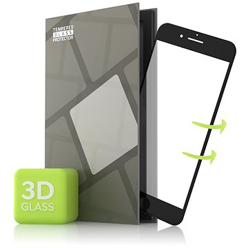 Tempered Glass Protector pro iPhone 6/6S - 3D GLASS, černé (TGP-I6B-01-RB) + ZDARMA Čisticí utěrka MOSH na displej telefonu