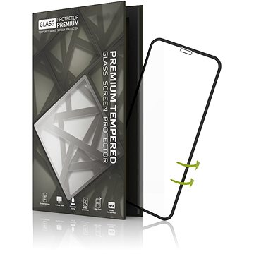 Tempered Glass Protector pre iPhone X - 3D GLASS, čierne (TGP-IPX-01)