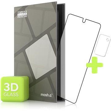 Tempered Glass Protector pro Samsung Galaxy Note 20 3D GLASS, Černé + sklo na kameru (TGR-SGN20-BL)