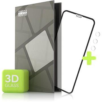 Tempered Glass Protector pro iPhone 11 Pro - 3D Case Friendly, Černé + sklo na kameru (TGR-IP11P-BL)