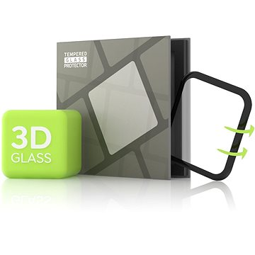 Tempered Glass Protector pro Apple Watch 5 44mm - 3D GLASS, Černé (TGR-AW544-BL)