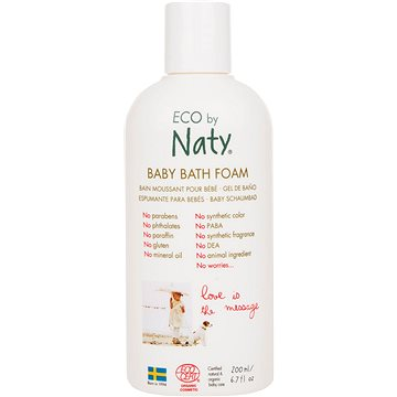 Pěna do koupele NATY ECO Baby Bath Foam 200 ml (7330933245586)