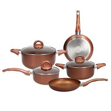 Tognana Sada nádobí 8 ks GRANCUCINA COPPER & CHARCOAL RAME měděná (V979108CCRA)