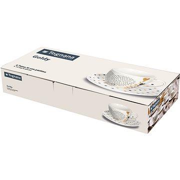 Tognana Sada hrnků na čaj s podšálky 6ks 200ml IRIS GOLDY (IR685375563)