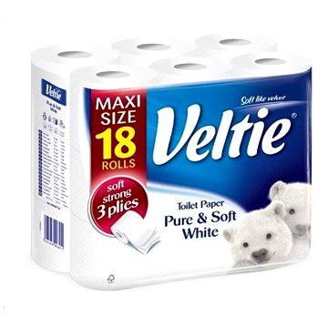 Toaletní papír VELTIE Delicately White (18 ks) (5901478996411)