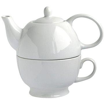 Toro Konvička na čaj 480ml se šálkem, bílý porcelán (590860)