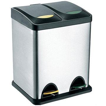 Toro nerezový s plastovým víkem na tříděný odpad objem 16l (270231)