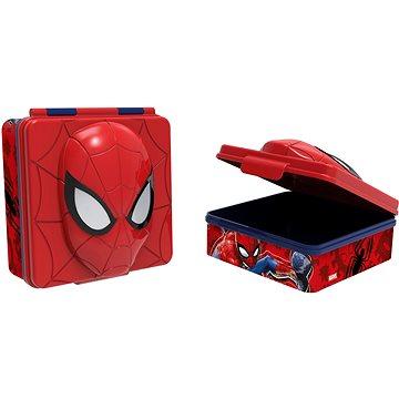 Toro Svačinový box plastový 3D Spiderman, 600ml (ST59497)