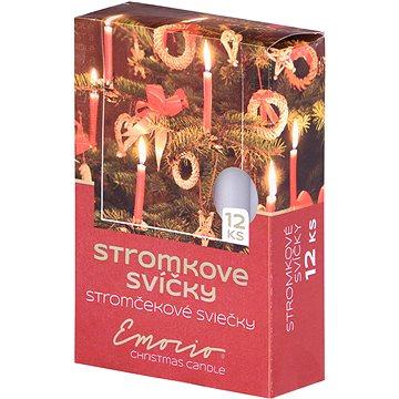Stromkové 12ks 12x100 bílé svíčky (30794)