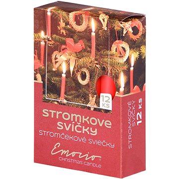 Stromkové 12ks 12x100 červené svíčky (30795)