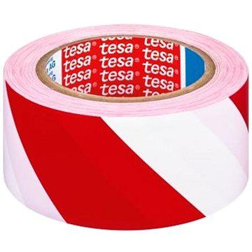 Lepící páska TESA vyznačovací 33m x 50mm červeno/bílá (J60760-00092-01)
