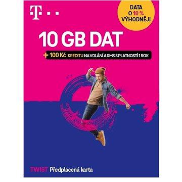Předplacená karta Twist s Námi 5GB + 100Kč na volání a SMS (700631)