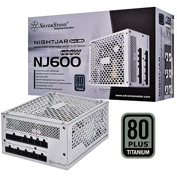 SilverStone Nightjar Fanless Titanium NJ600 600W (SST-NJ600)