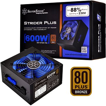 SilverStone ST60F-P 600W Strider Plus series (SST-ST60F-PB) + ZDARMA Dárek poukaz 400kč Silverstone na další nákup zboží na Alza.cz