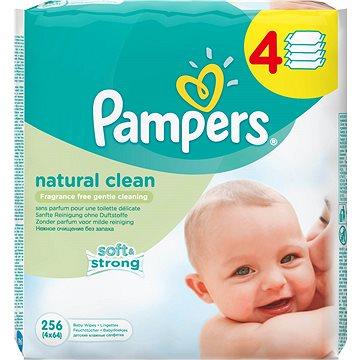 Pampers Natural Clean dětské vlhčené ubrousky 4 x 64 kusů