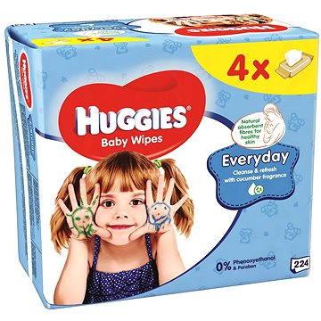 HUGGIES Quatro Pack Everyday (4x56ks) - čistící ubrousky
