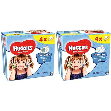 HUGGIES Everyday Quatro Pack 2 × (4 × 56 ks)