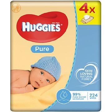 HUGGIES Quatro Pack Pure (4x56ks) - čistící ubrousky