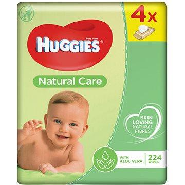 HUGGIES Quatro Pack Natural Care (4x56ks) - čistící ubrousky