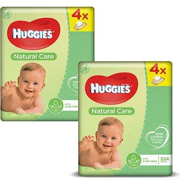 HUGGIES Natural Care Quatro Pack 2 × (4 × 56 ks) + ZDARMA Kartáč Vileda kuchyňský kartáček na sklenice