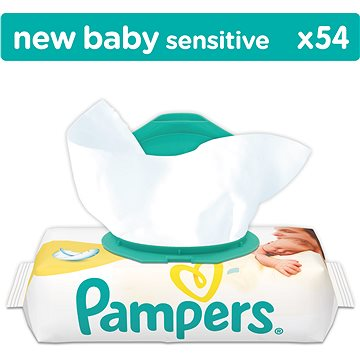 PAMPERS New Baby Sensitive (54 ks) (4015400686101)
