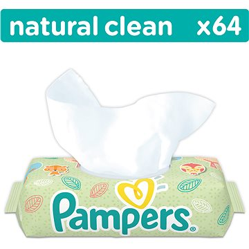 PAMPERS Natural Clean (64 ks) (4015400636830)