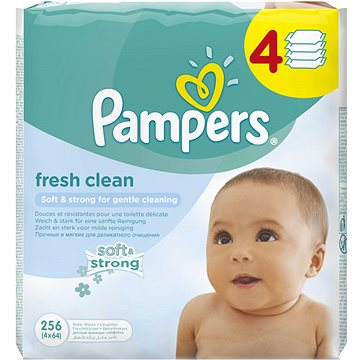 PAMPERS Fresh Clean (4 x 64 ks) (4015400622734)