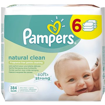PAMPERS Natural Clean (6 x 64 ks) (4015400689096)