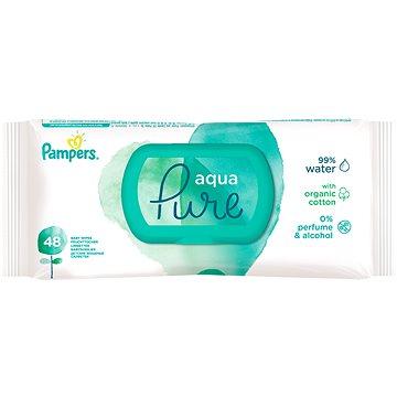PAMPERS Aqua Pure vlhčené ubrousky 48 ks (8001090603326)