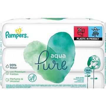 PAMPERS Aqua Pure vlhčené ubrousky 3 × 48 ks (8001090603388)