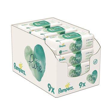 PAMPERS Aqua Pure vlhčené ubrousky 3× (3× 48 ks)