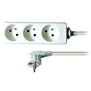 Solight prodlužovací přívod, 3 zásuvky, bílý, 3m (PP03)