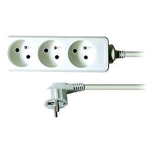 Solight Prodlužovací přívod, 3 zásuvky, bílý, 5m (PP04)