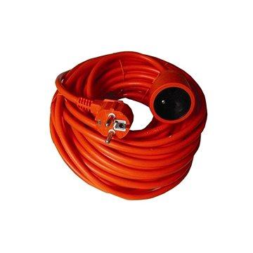 Solight Prodlužovací kabel, 1 zásuvka, oranžová, 30m (PS18)