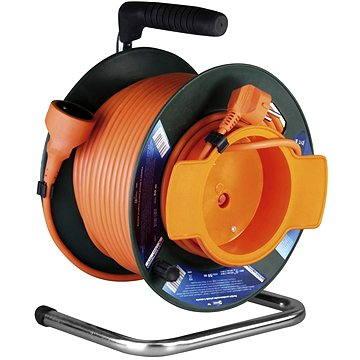 PremiumCord prodlužovací kabel 230V 25m buben, oranžový (8592220006174)